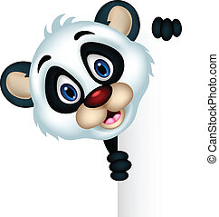 cute panda cartoon posing - vector illustration of cute...