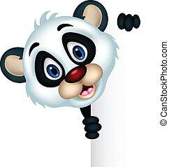 cute panda cartoon posing - vector illustration of cute...