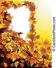 autumnal background - vector autumnal background