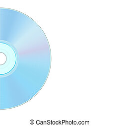 compact disc - illustration of back side of compact disc