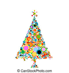 abstract christmas-tree with circles