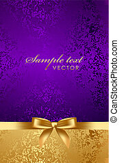 luxury background with gold bow - Vector luxury background...