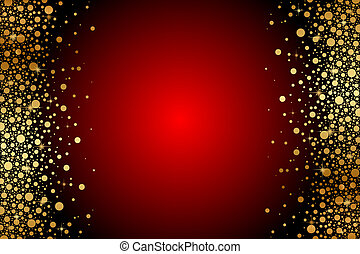 Vector red and gold luxury frame