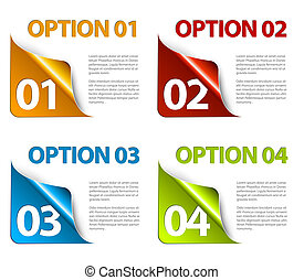 Set of Colorful Vector Sample option stickers - Set of...