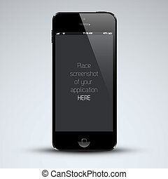 Modern mobile phone template with place for your application...