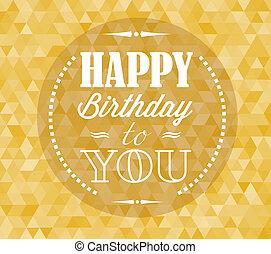 Happy birthday retro vector illustration