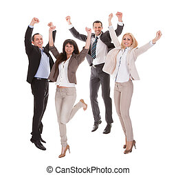 Portrait Of Successful Business Group - Portrait Of Happy...