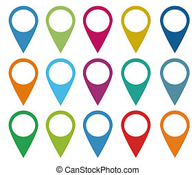 Set of colorful icons - Set of icons for web or markers on...