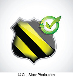 shield security concept illustration design over a white...