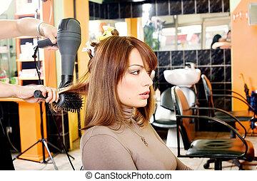 customer in a hair salon