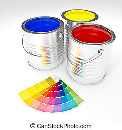 can color paint - 3d color cans paint and swatches