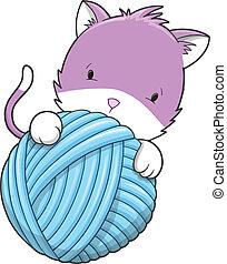 Cute Kitten Cat Pet Vector
