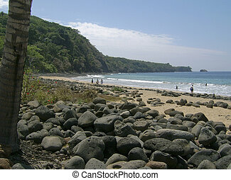 Pacific Ocean cove in Mexico - Pacific Ocean cove with...