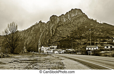 Houses in the high mountain - Houses located next to the...