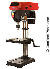 Drill Press - Drill press isolated on a white background