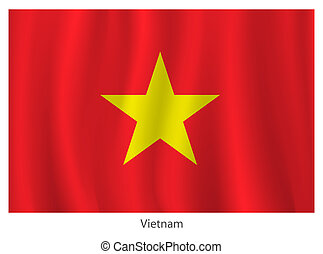 Vietnam flag - Vector Vietnam flag with title on the white...