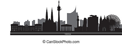 vienna skyline with hotel tower and architecture