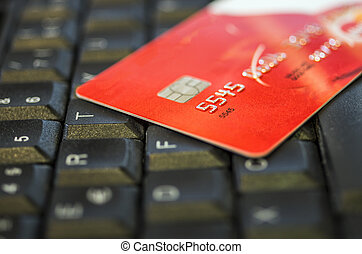 Credit Card - Concept of e-commerce with credit card