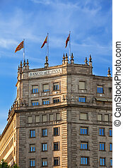Barcelona. Building of bank of Spain