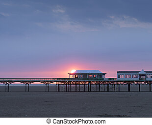 Pier - St annes-on-Sea pier at sunset