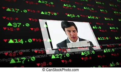 Screens showing business situations