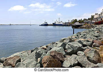 Point Loma San Diego fishing vessels California. - Point...
