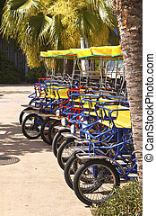 Tricycles for rent. - Tricycles for rent Balboa Park San...