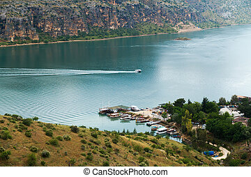 Euphrates River in Halfeti - Firat (Euphrates) River in...