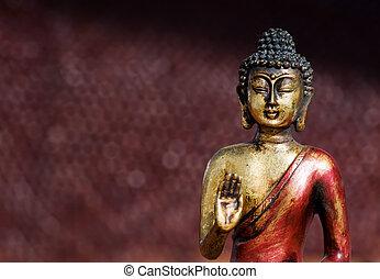 Buddha zen statue - Closeup of a buddha statue in a zen pose