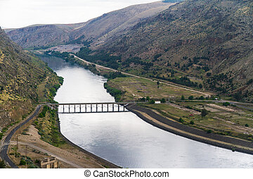 Ataturk Dam on the Euphrates River in Anatolia, Turkey.