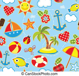 Summer Seamless Background
