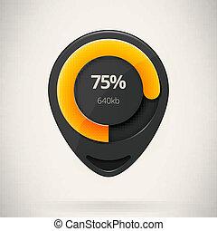 Web preloader. Download bar. Vector illustration