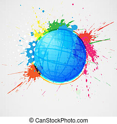 Abstract globe vector illustration on white background in...