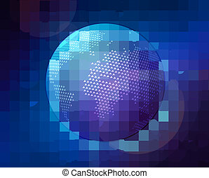 abstract globe in space vector illustration eps 10