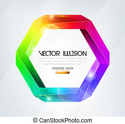 Impossible figure Colorful illusion - Impossible figure...