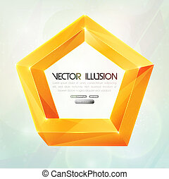 Impossible figure. Vector illusion. - Impossible figure...