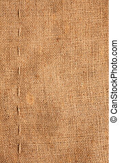 Line, guy-sutures on Burlap ,sacking, it is possible to use...