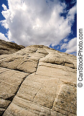 Looking up the Sandstones in Snow Canyon - Utah - Snow...