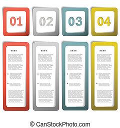 Option paper frames eps10 vector illustration