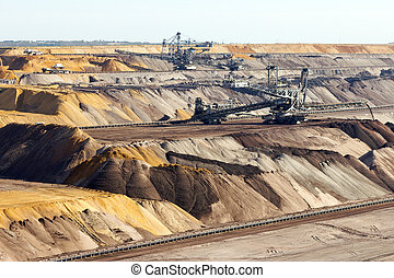 Open pit mine - Brown coal open pit mine.