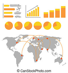 Transportation infographics - Transportation and cargo...
