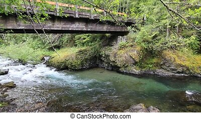 Canyon Creek Falls located east of Amboy Washington on...