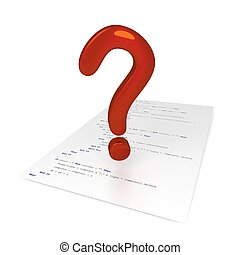 3D Code Page - Question - Code Page - Question 3D, isolated,...