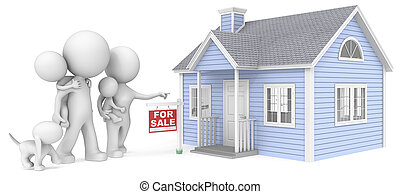 House for sale. - The Dude with family looking at house for...