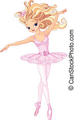 Beautiful ballerina - Illustration of beautiful dancing...
