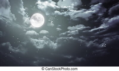 Halloween moon and dark sky wide - Halloween moon background...