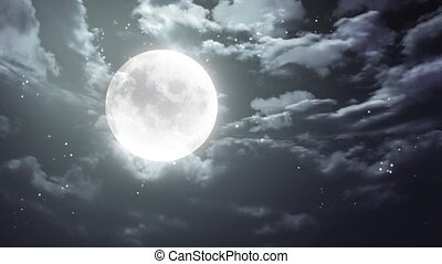 Halloween moon and dark sky - Halloween moon background is...