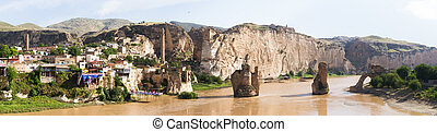 Hasankeyf Village on Tigris River, Batman, Turkey.