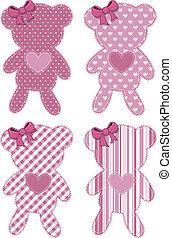 teddy bear applique baby girl