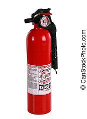 fuego, Extintor, rojo